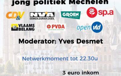 Dialoogavond jong politiek Mechelen op 20 september